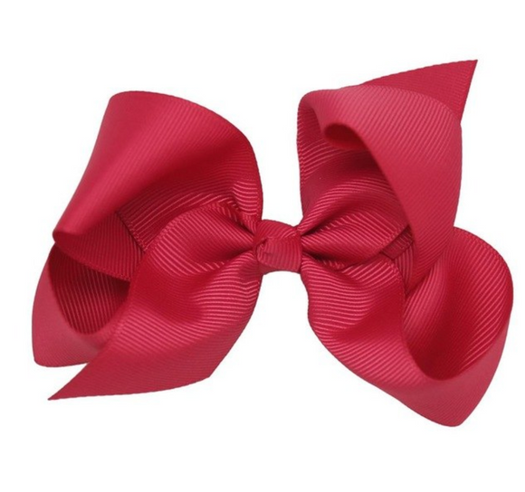 Classic Dark Pink - Small Bow