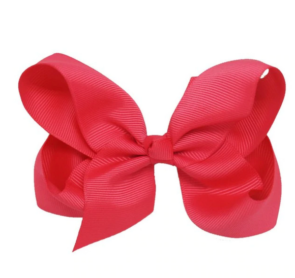 Classic Bright Pink - Small Bow