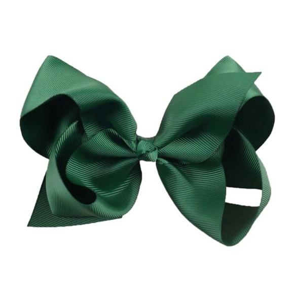 Classic Bottle Green - Large Bow