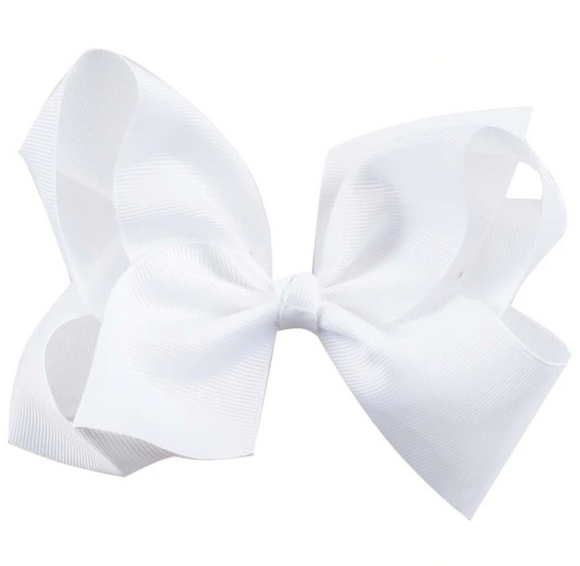 Classic White - Large Bow