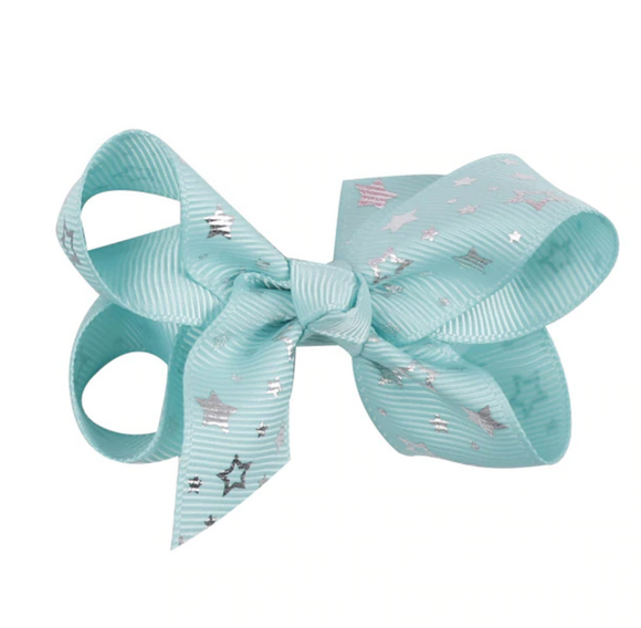 Foil Star Mint - Mini Bow
