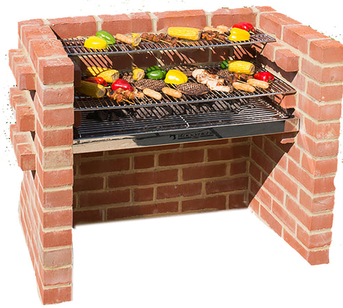 STAINLESS STEEL BBQ KIT with Bag, Caddy 90x39cm (4 brick) BKB 306