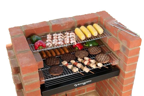 DELUXE BARBECUE KIT WITH WARMING RACK & BAG BKB 404