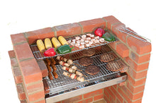 Load image into Gallery viewer, 100% STAINLESS STEEL BBQ KIT BKB502 with Cover 67x39cm (3 brick)