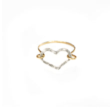 Load image into Gallery viewer, Heart Ring (Silver & Gold)