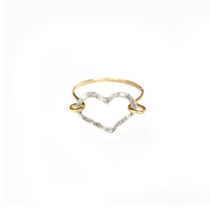 Heart Ring (Silver & Gold)