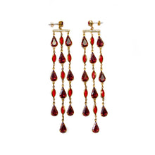 Load image into Gallery viewer, Reign Drop Earrings (Ruby)