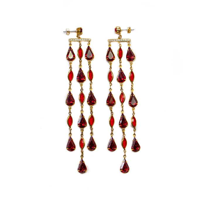 Reign Drop Earrings (Ruby)