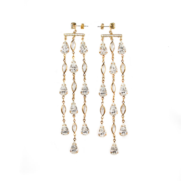 Reign Drop Earrings (Clear)