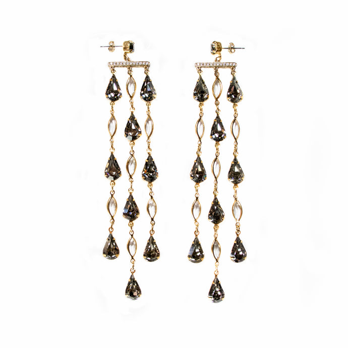 Reign Drop Earrings (Steel Grey)