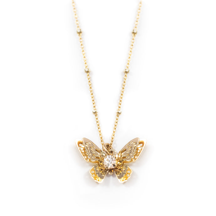 Keila Crystal Butterfly Necklace