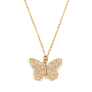 Celastrina Pavé Butterfly Necklace