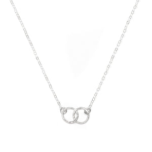 Double Circle Necklace (Silver)