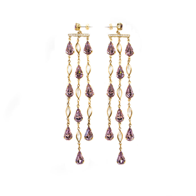 Reign Drop Earrings (Lilac)