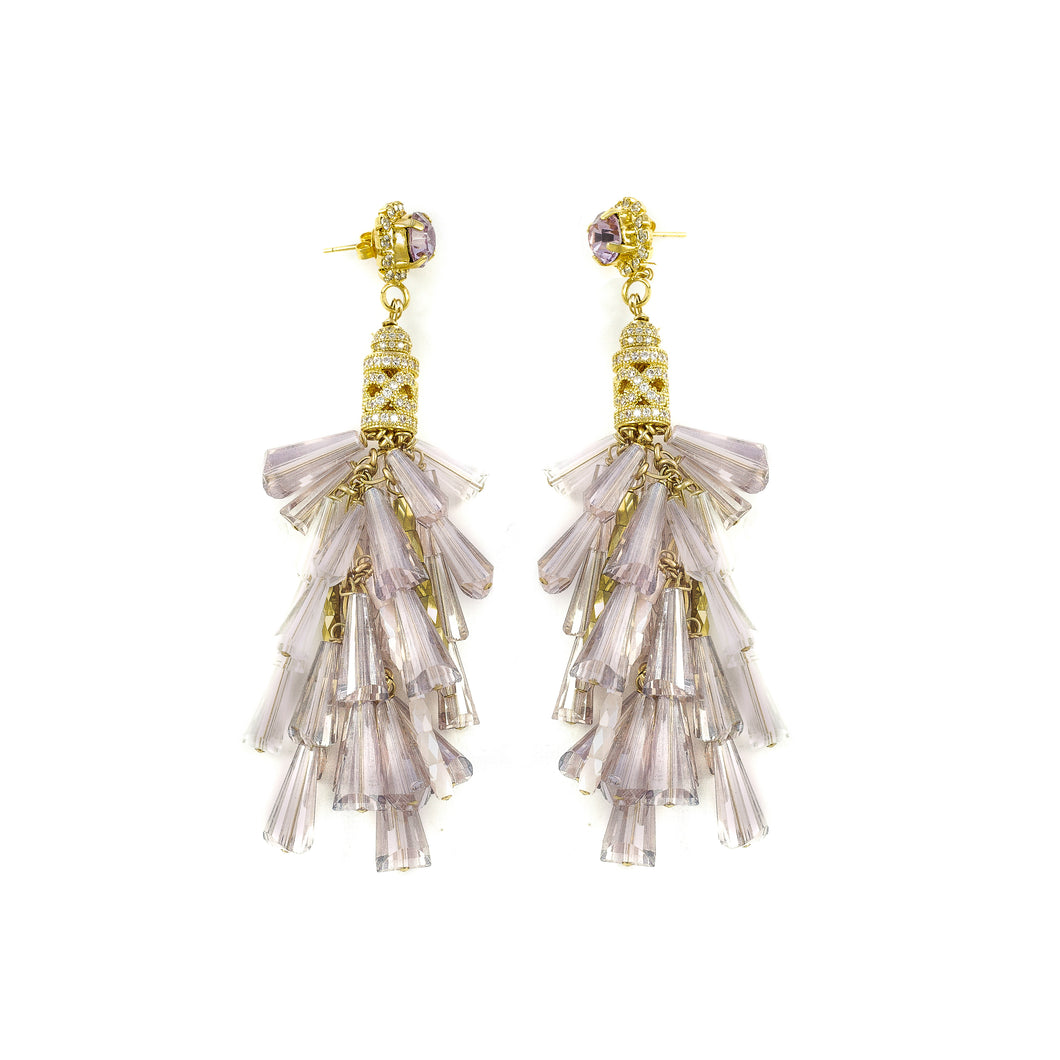 Crystal Goddess Earrings (Lilac)