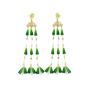 Ornate Destiny Earrings (Green)