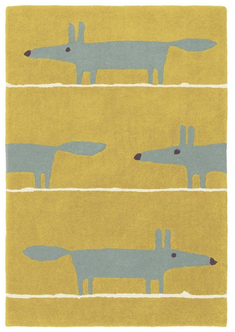 Scion Mr Fox Rug Mustard 25306