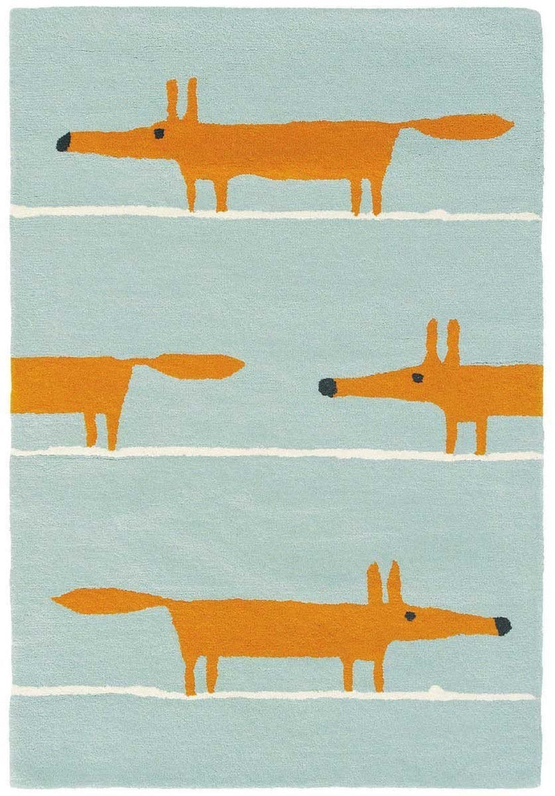Scion Mr Fox Rug Aqua 25308