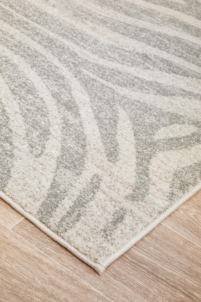 Chrome Savannah Silver Rug
