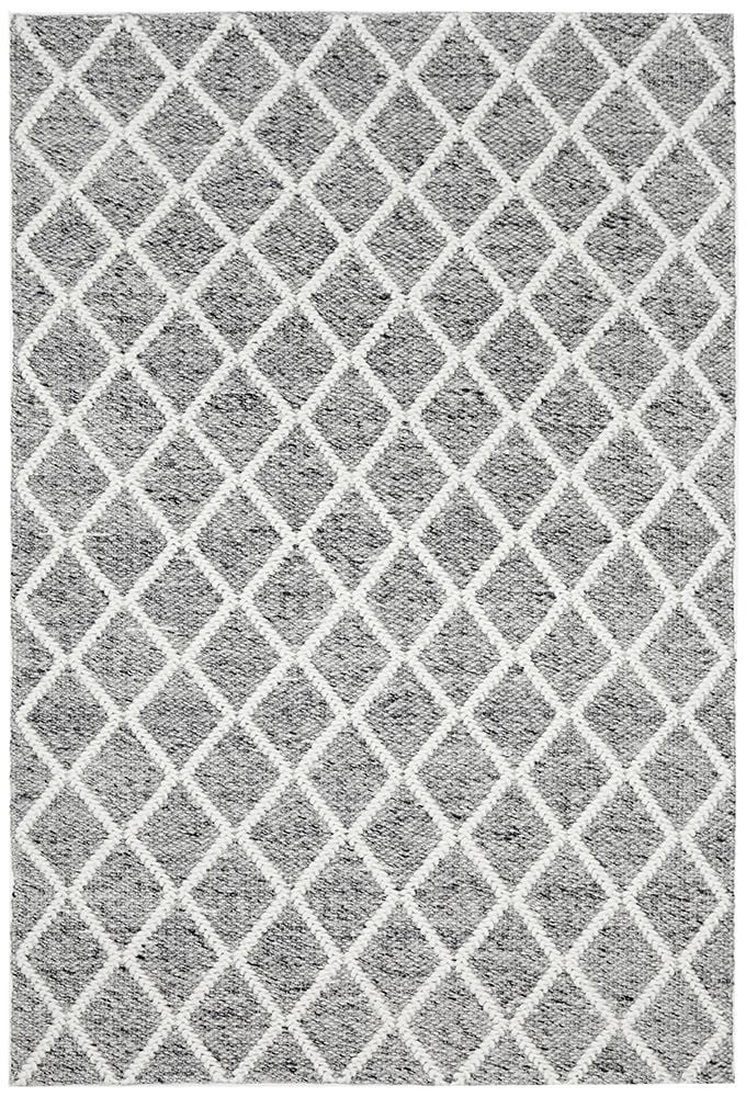 Huxley Grey Wool Rug
