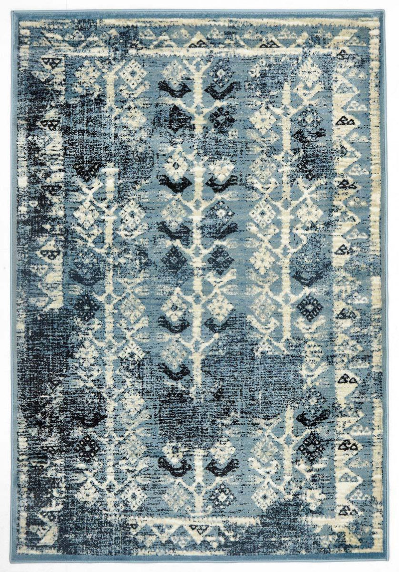Calypso-Urdu Tribal Rug Blue