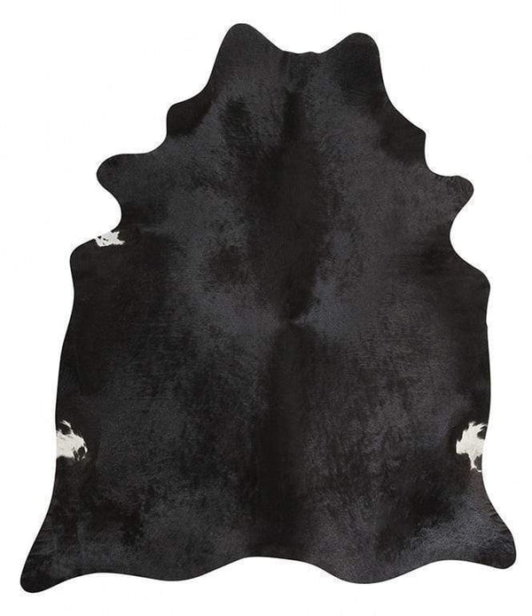 Cowhide-Exquisite Natural Cow Hide Black