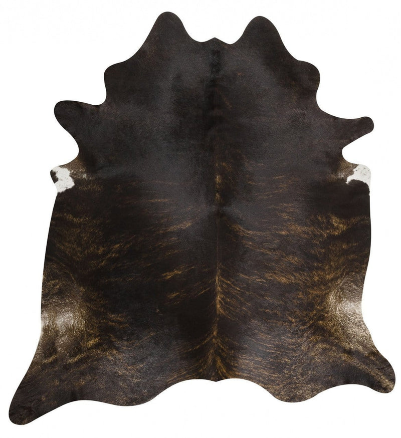 Cowhide-Exquisite Natural Cow Hide Dark Brindle