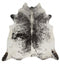 Cowhide-Exquisite Natural Cow Hide Salt & Pepper Black