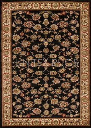 Istanbul-Traditional Floral Design Rug Black
