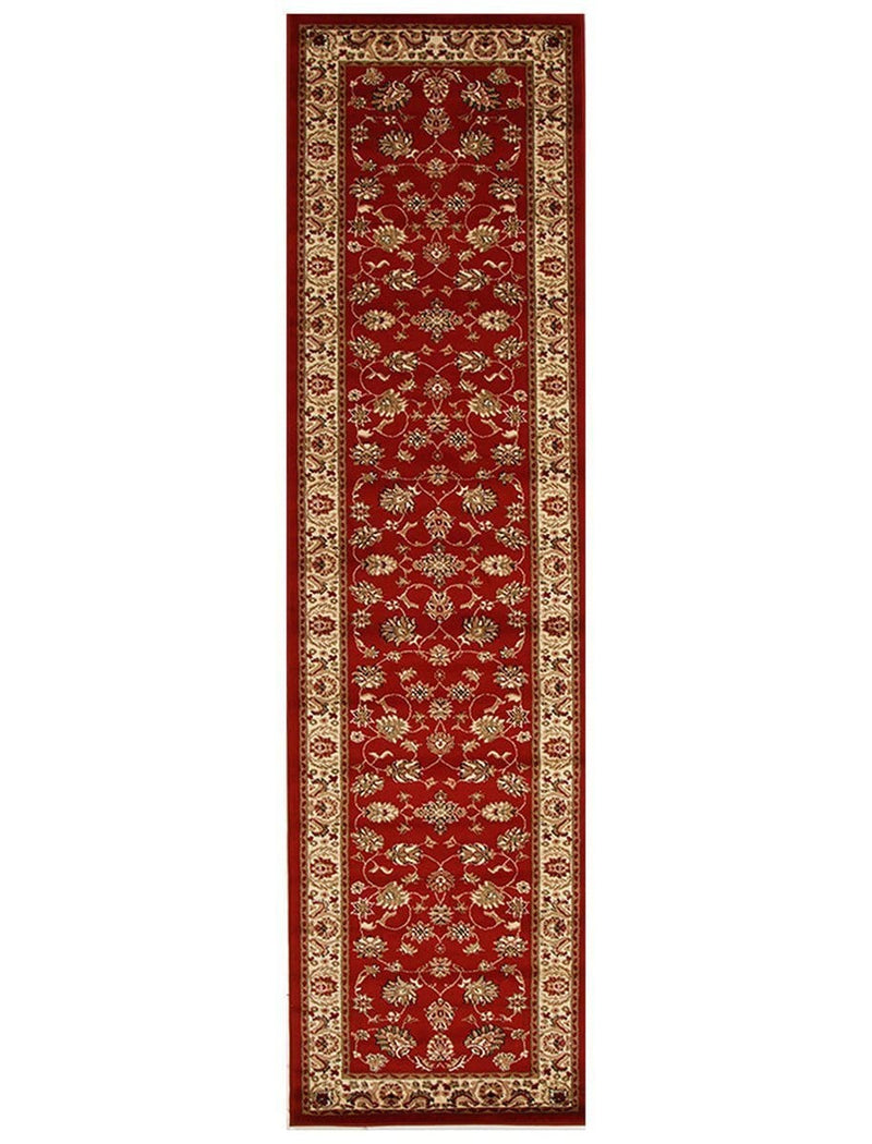 Istanbul-Traditional Floral Design Rug Red