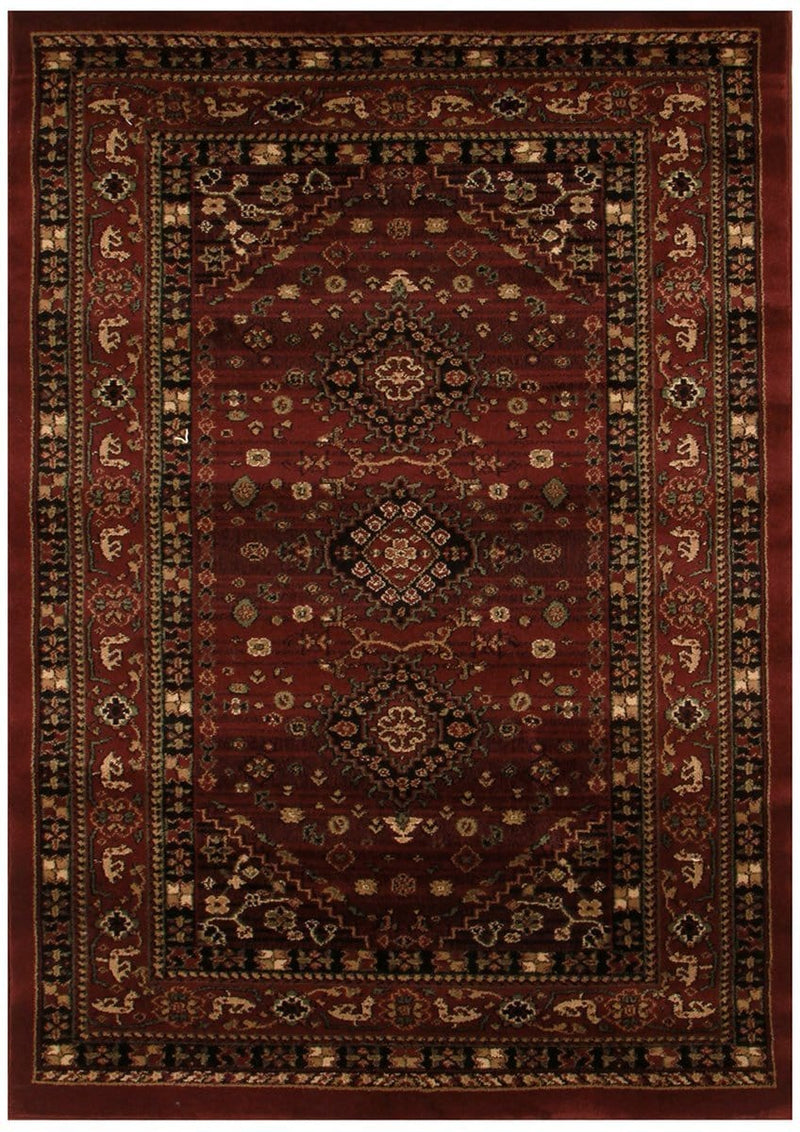 Istanbul-Traditional Shiraz Design Rug Burgundy Red
