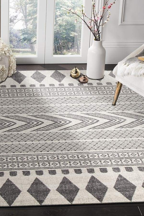 Mirage-Adani Modern Tribal Design Grey Rug