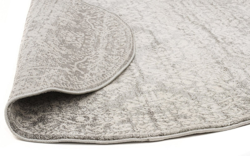 Mirage-Gwyneth Stunning Transitional Silver Round Rug