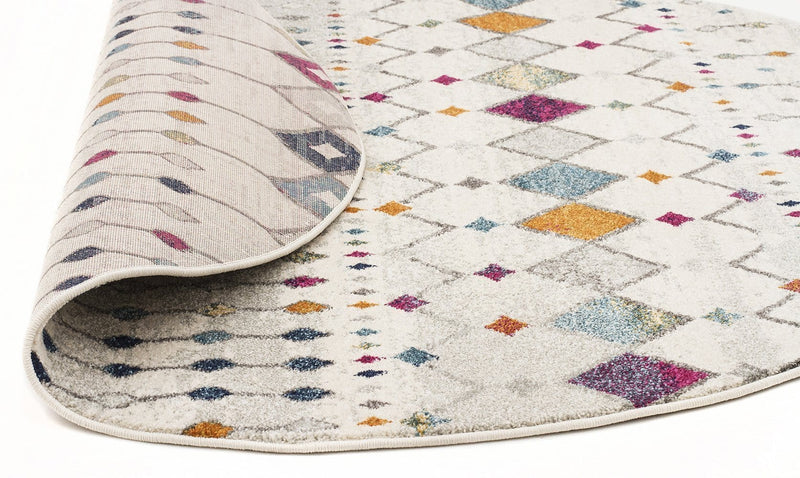 Mirage-Peggy Tribal Morrocan Style Multi Round Rug