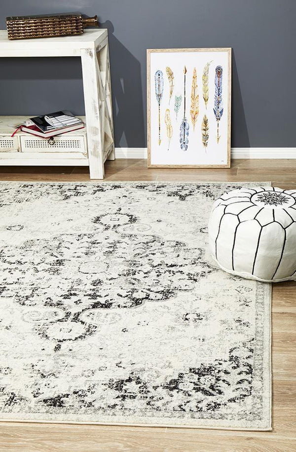 Museum-Museum Transitional Charcoal Rug