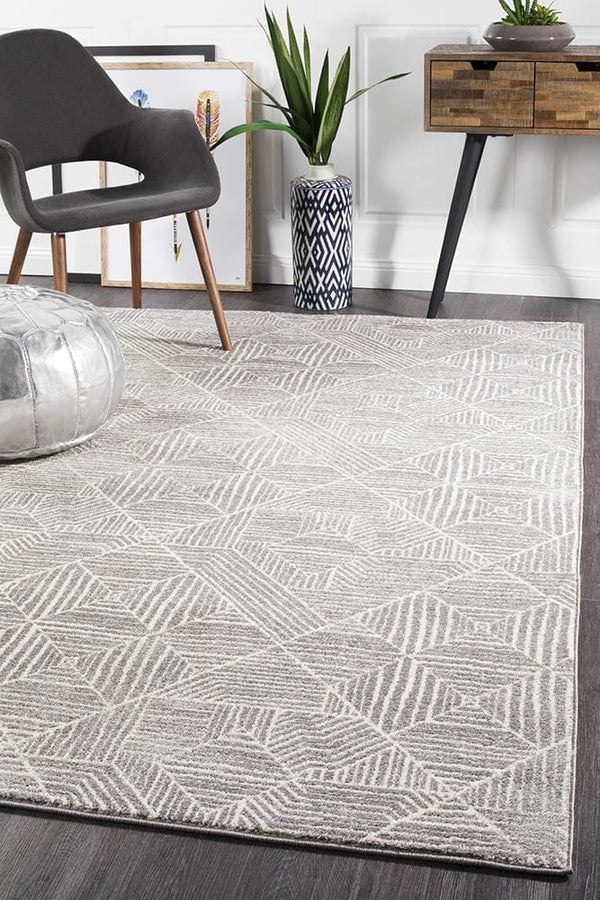 Oasis-Oasis Kenza Contemporary Silver Rug