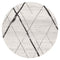 Oasis-Oasis Noah White Grey Contemporary Round Rug