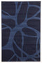 Silver BCF-Abstract Modern Rug Blue 230X160