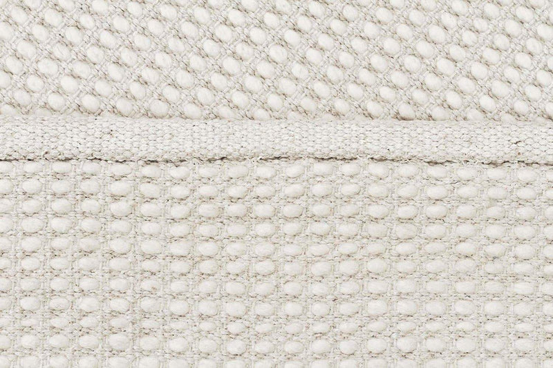 Skandi-Carlos Felted Wool Rug White Natural