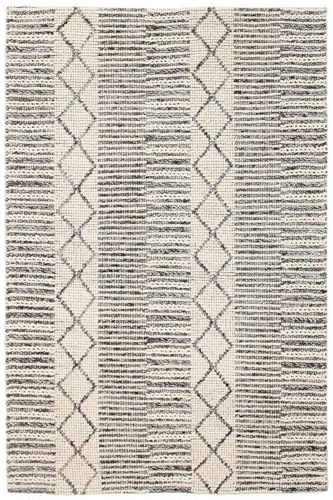 Skandi-Hellena Braied Grey Wool Rug
