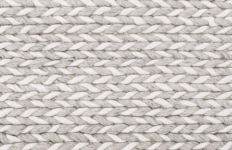 Studio-Helena Woven Wool Rug Grey White