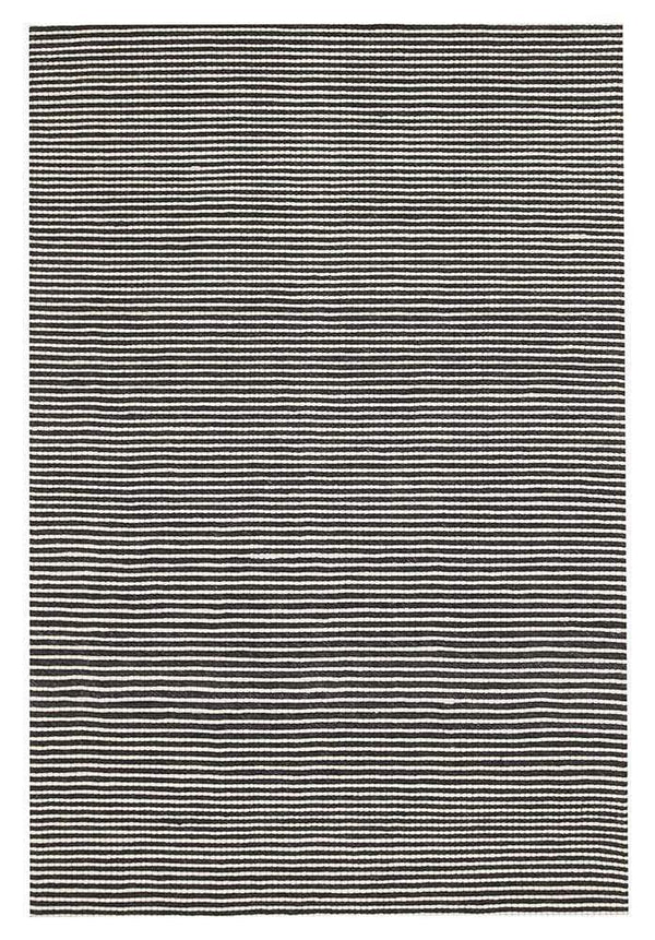 Studio-Oskar Felted Wool Striped Rug Black White