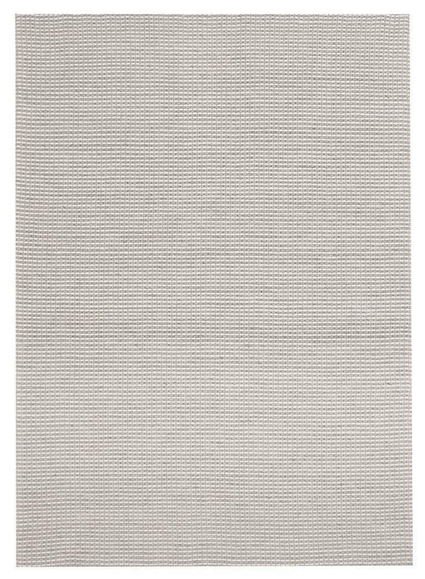 Studio-Oskar Felted Wool Striped Rug Grey White