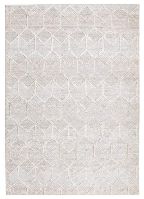 Visions-Winter Grey Brush Modern Rug