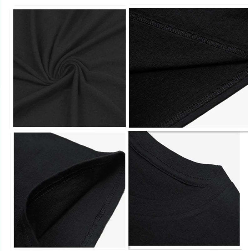 Men's black cotton LGBT t-shirt fabric