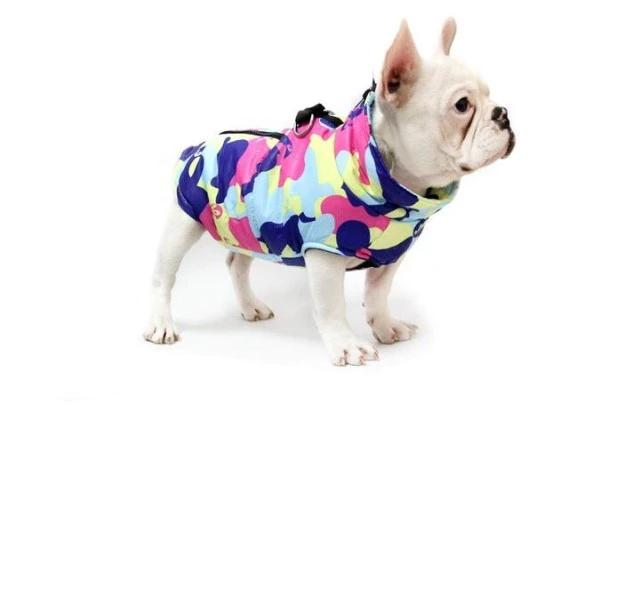 Camouflage Waterproof French Bulldog Jacket (eight style/color options)