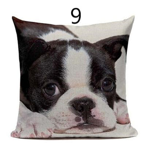 luxury handmade cushion cover with a cute french bulldog image
