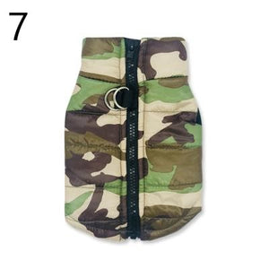 brown beige black and green Camouflage Waterproof French Bulldog Jacket