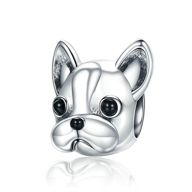925 Sterling Silver French Bulldog Charm