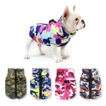 cute french bulldog wearing a camouflage Waterproof French Bulldog Jacket